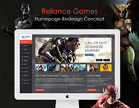 Reliance Games Homepage Redesign Concept