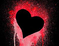 Valentines Ink Splatters / Tshirt