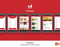 Eat Daily PROTOTYPE with MockPlus