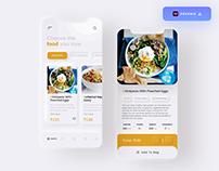 Food Order App UI Design - (Freebie)