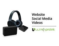 Website, Social Media, Poster & Videos for Ultraprolink