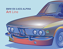 BMW E9 3.0CS ALPINA - Illustrations