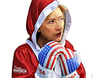 Editorial Illustration Hillary Clinton 2016