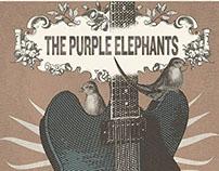 Cartel ficticio para una banda de rock y blues.