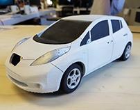3D printed Nissan Leaf Scale model