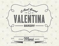 Menú Valentina Bakery