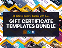 Gift Certificate Template Bundle