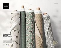 Fabric Rolls Mockup (16/FFv.11)