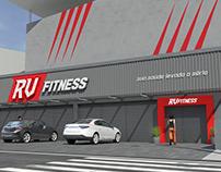 RV Fitness - Facade CGI and Logo