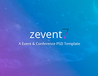 Zevent - Conference & Events PSD Template