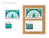 2016 Holiday Arts Festival Branding & Signage
