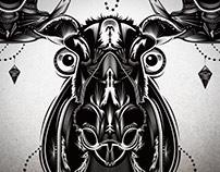 M O O S E, vector illustration