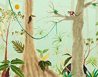 Costa Rica Illustration: Tropical Jungle