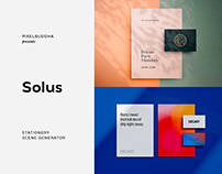 Solus Shadow Stationery Mockups