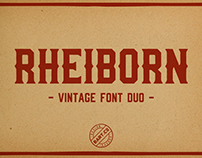 Rheiborn Vintage Font Duo