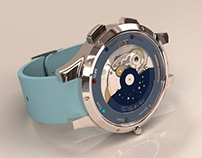 Van Cleef & Arpels watch 3D modeled