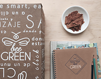 BEE GREEN BRAND IDENTITY PIECES