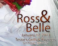 Ross&Belle Wedding shoot and Wedding Album Layout