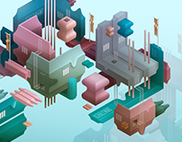 TINY WORLDS / Isometric Illustrations