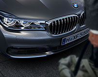 CGI visuals of BMW 7 Series in Hongkong