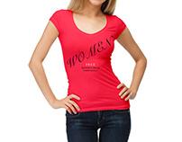Free Women T-Shirt Mockup