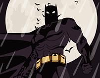 Batman Poster on Adobe Illustrator on iPad