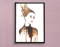 Retrato con vino Mujer 1