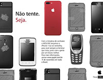Propaganda para o Iphone 7 Edição vermelha