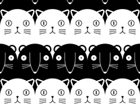 P A01.01 B&W / Mouse & cat