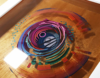 Conception: 3D painting with layered resin and acrylic