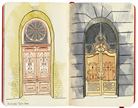 Tbilisi travel sketchbook // 2015