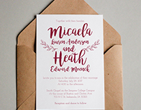 Wedding Invitation Design // Typography