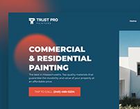Trust Pro Painters UI/UX Webdesign