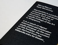 Micro and Macro Typography