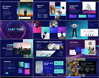 30+ Colorful business report PowerPoint template