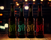 Logo lettering cerveza Baja ºC