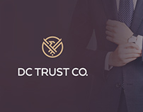 "Brand identity for ""DC Trust Co."""