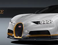 Bugatti Chiron Black White Gold