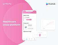 PelviFly - healthcare cross-platform mobile app