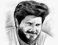 Dulquer Salmaan - Charcoal Drawing