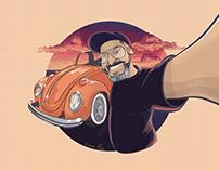 Ilustração caricatura