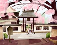 Biking in Japan