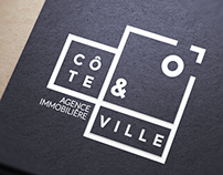 CÔTE ET VILLE - Real Estate Agency Branding