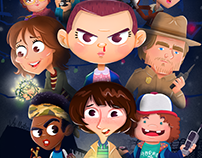 Stranger Things: Character Design & Illustration