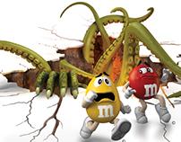 M&M's Halloween Floor Decal