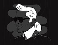 Karl Lagerfeld digital painting