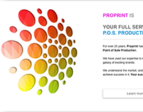 Proprint Services Website