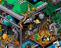 Cal Academy Nightlife Poster