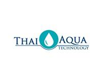 Thai aqua Technology 3 pattern logo design