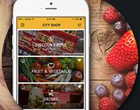 City Shop (Online Supermarket) App Design
